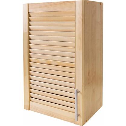 Шкаф навесной Сосна жалюзи Мо с фасадом 68х40 см хвоя/ЛДСП цвет сосна
