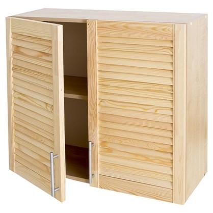 Шкаф навесной Сосна жалюзи Мо с фасадом 68х80 см хвоя/ЛДСП цвет сосна