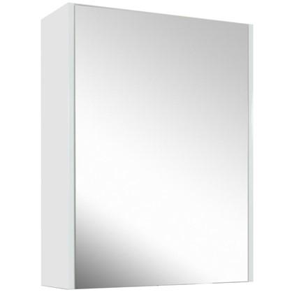 Зеркальный шкаф Экко 60 см цвет белый глянец