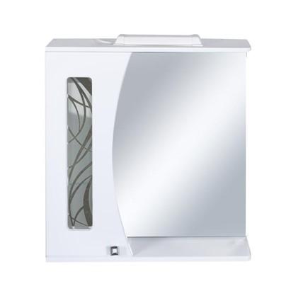Зеркальный шкаф Мальта 65 см цвет белый