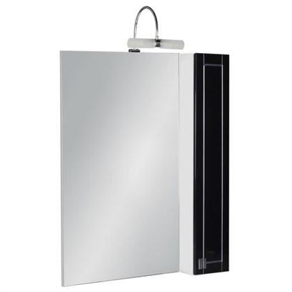 Зеркальный шкаф Мерлин 60 см цвет чёрный