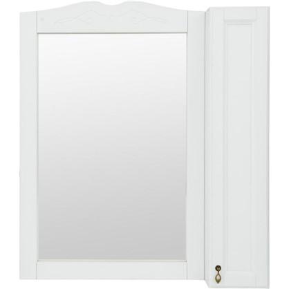 Зеркальный шкаф O-mebel Retro 85 см массив бука цвет белый