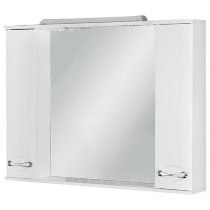 Зеркальный шкаф Палермо 105 см цвет белый