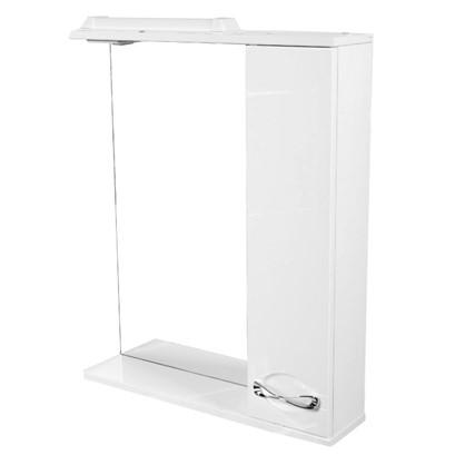 Зеркальный шкаф Палермо 65 см цвет белый