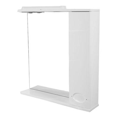 Зеркальный шкаф Палермо 75 см цвет белый