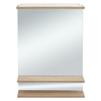 Шкаф зеркальный Румба 60 см цвет светлое дерево