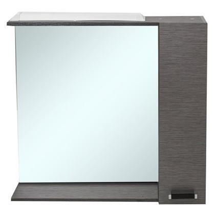 Зеркальный шкаф Торонто 75 см цвет серый