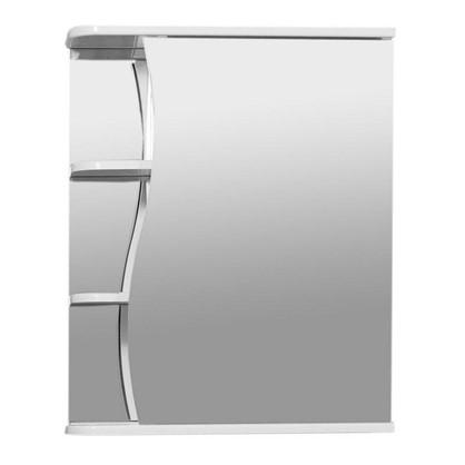Зеркальный шкаф Тура 50 см цвет белый