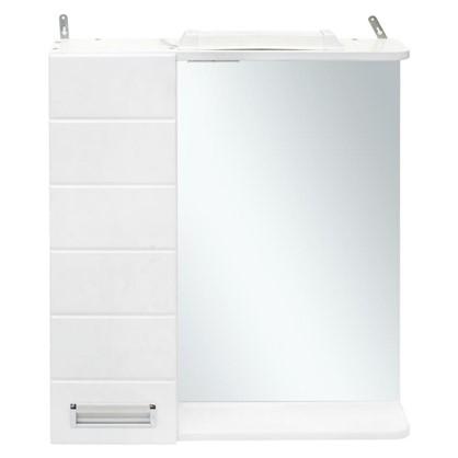 Зеркальный шкаф Венто 50 см цвет белый