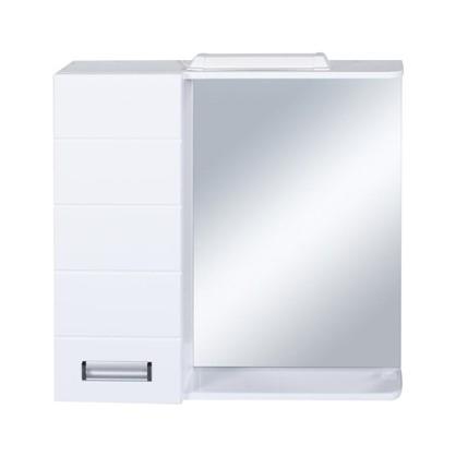 Зеркальный шкаф Венто 70 см цвет белый