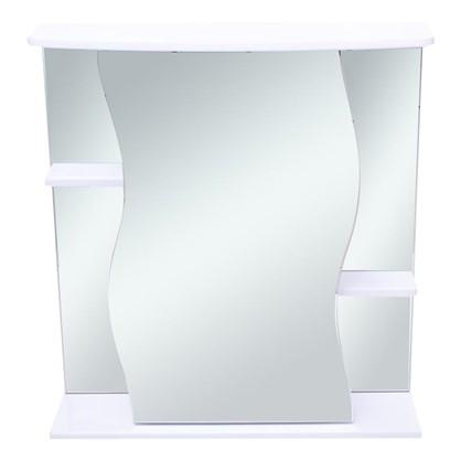 Зеркальный шкаф Волна 70 см цвет белый
