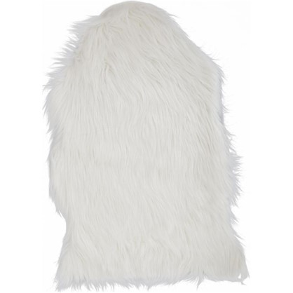 Шкура овечья искусственная 45x65x6.5 см цвет белый