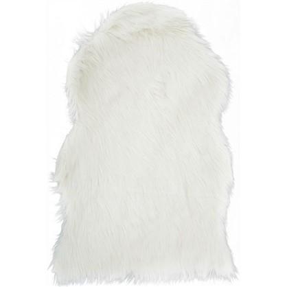 Шкура овечья искусственная 60x90x6.5 см цвет белый