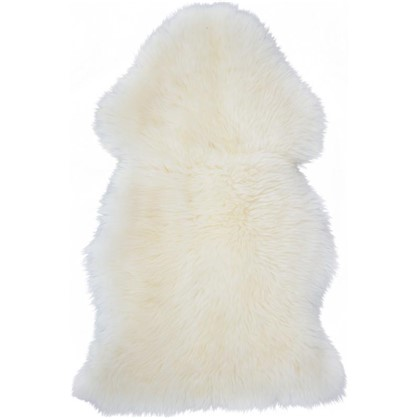 Шкура овечья одинарная 0.8x0.5 м цвет белый