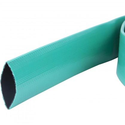 Шланг для полива трехслойный плоский 40x50 мм цвет зелёный на отрез
