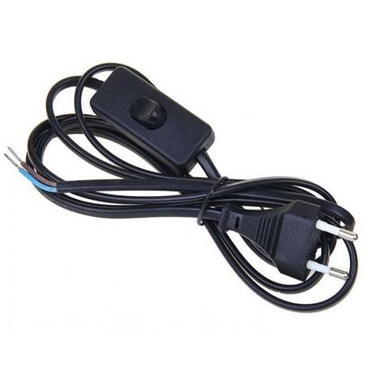 Шнур сетевой с выключателем 1.9 м цвет черный