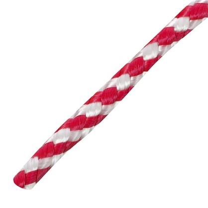 Шнур спирального плетения Standers 6 мм 20 м полипропилен цвет белый/красный