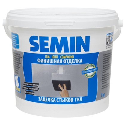 Шпаклевка для заделки швов Semin Sem-Joint 7 кг