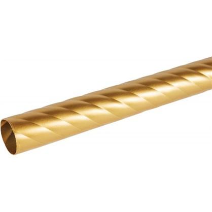Штанга витая 20-200 см сталь цвет золото матовое