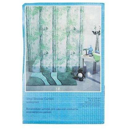 Штора для ванной Бамбук 180х200 см цвет зелёный