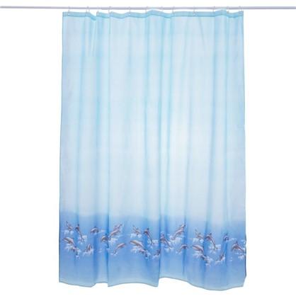 Штора для ванной Bath Plus Dolphin Dance 180x180 см цвет голубой