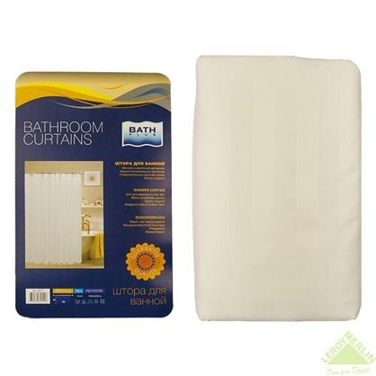 Штора для ванной Белая 200х240 см цвет белый