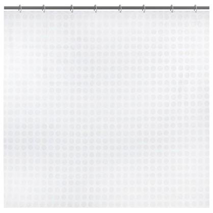 Штора для ванной Белая плитка 180x180 см цвет белый