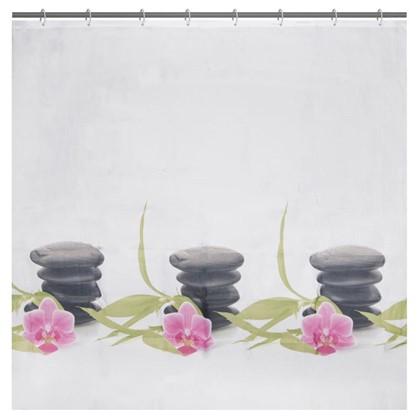 Штора для ванной Bliss 180х180 см цвет белый