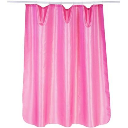 Штора для ванной Бриллиант 180х180 см цвет розовый