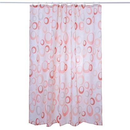 Штора для ванной Пузыри 180х180 см цвет бежевый