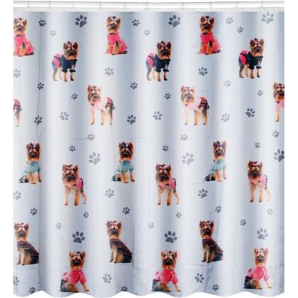 Штора для ванной York-dog 180х180 см цвет белый