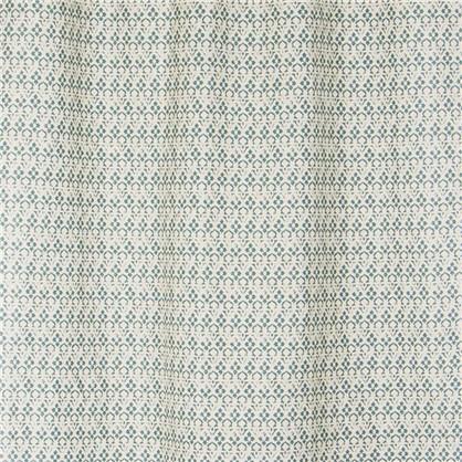 Штора на ленте 145х260 см лен цвет бирюзовый