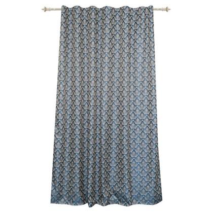 Штора на ленте 160х260 см жаккард цвет синий
