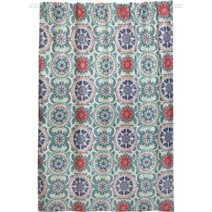 Штора на ленте Boho 200x270 см цвет синий