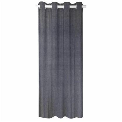 Штора на ленте Бургос 160х260 см цвет черный белый