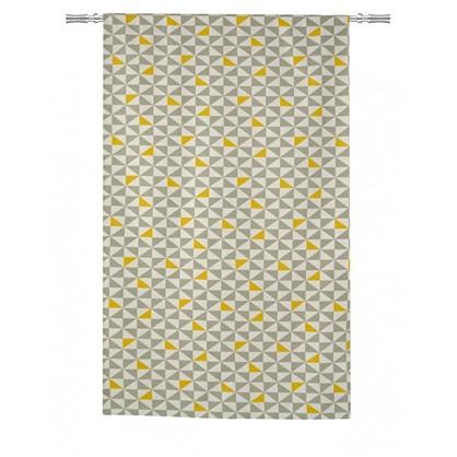 Штора на ленте Дельта 140х260 см цвет серый желтый
