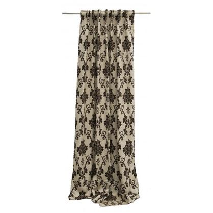 Штора на ленте Gambier 140х260 см цвет коричневый