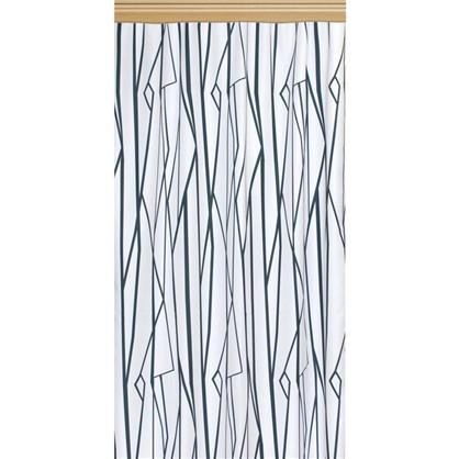 Штора на ленте Геометрия 140х260 см цвет бело-черный