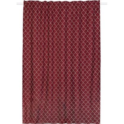 Штора на ленте Great Gatsby 200x280 см цвет красный