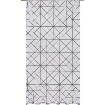 Штора на ленте Квадрат - 2 140х260 см цвет черно-белый