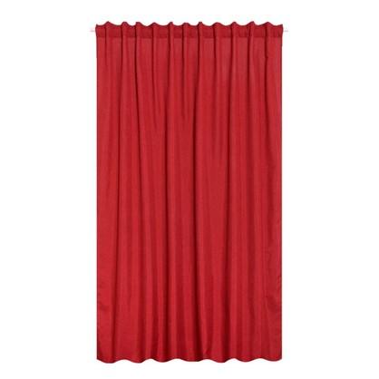 Штора на ленте Лукс 200х260 см цвет красный