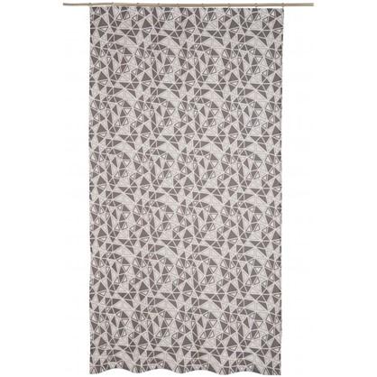 Штора на ленте Люмьер 160х260 см цвет серый
