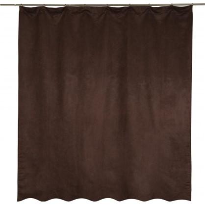 Штора на ленте Манчестер 200x260 см цвет шоколадный