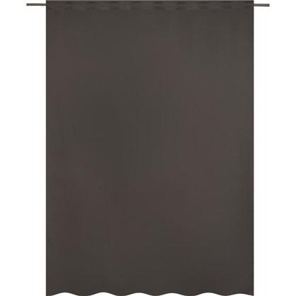 Штора на ленте Ночь 200х280 см цвет серый бежевый