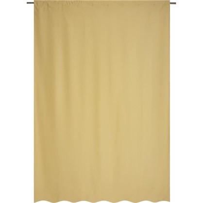 Штора на ленте Ночь 200х280 см цвет светло-желтый