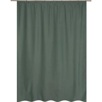 Штора на ленте Ночь 200х280 см цвет зеленый