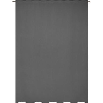 Штора на ленте Ночь 200x280 см цвет серый