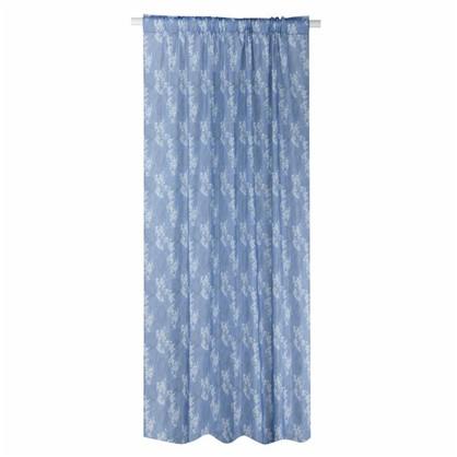 Штора на ленте Рокхэмптон 160х260 см цвет голубой