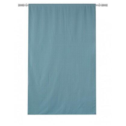Штора на ленте Ветта 160х260 см цвет голубой