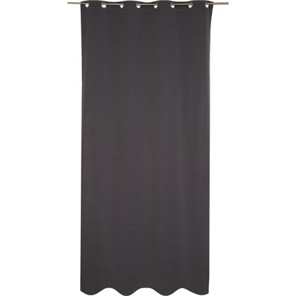 Штора на люверсах Helena 140х280 см цвет темно-серый